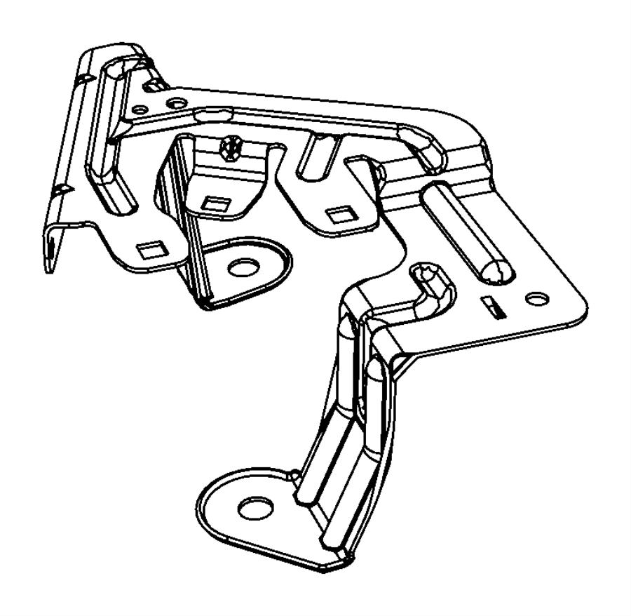 Jeep Compass Fuse Box Bracket. UNDER HOOD. Telematics