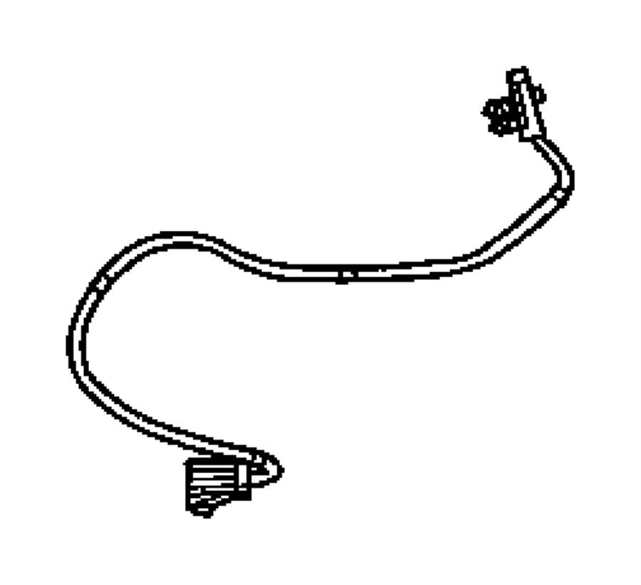 Jeep Liberty Steering Wheel Wiring Harness. All, w/o