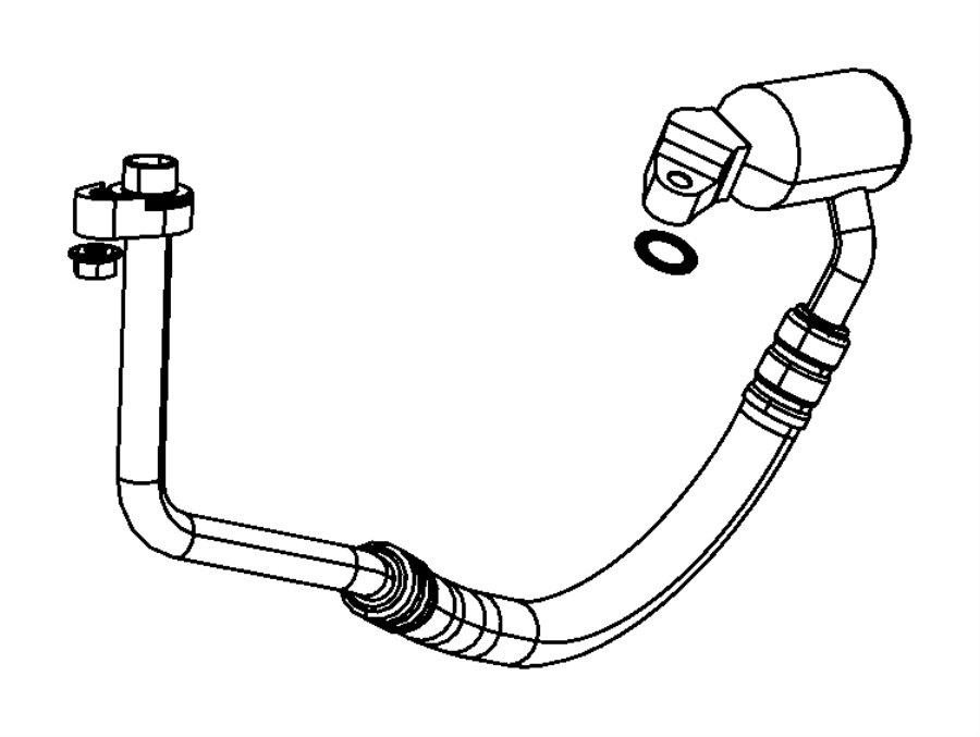 Jeep Patriot A/c refrigerant suction hose. Suction. Line
