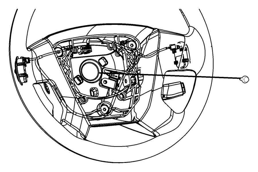 Jeep Patriot Steering Wheel Trim (Rear). W/o vehicle info