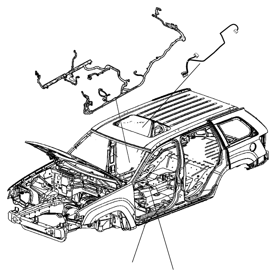 Dodge Durango Sunroof. Wire. Wiring. Harness. Motor. QUAD