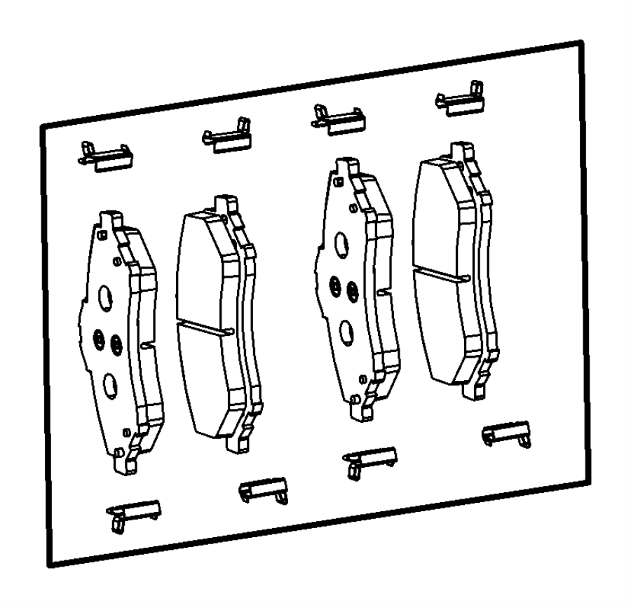 Chrysler Town & Country Disc Brake Pad Set. Pads