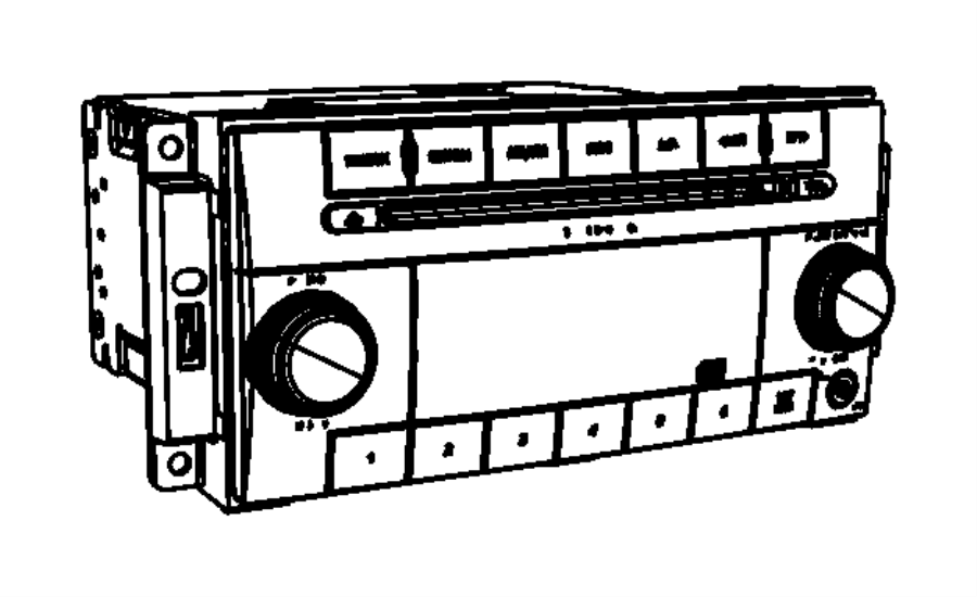 Chrysler Town & Country Multi media. Radio. Res, rsc, code
