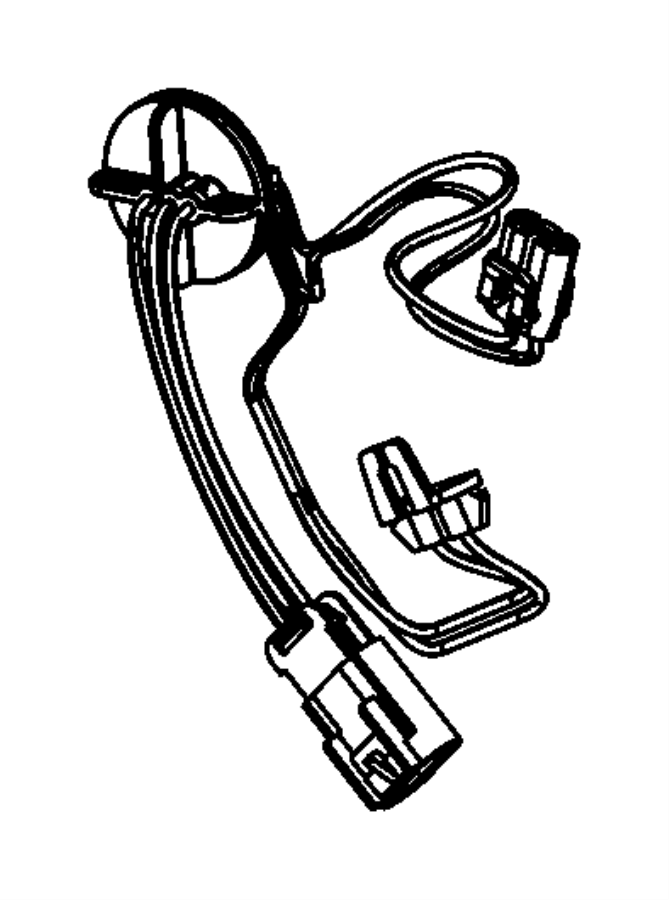 Ram 1500 Headlight Wiring Harness. QUAD BEAM. FRONT, Left