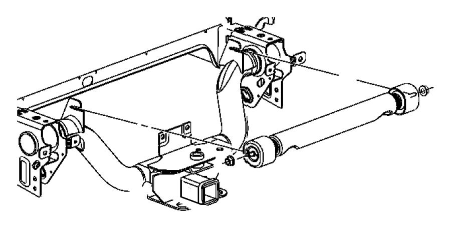 Dodge Ram 2500 Beam Axle Damper. 4WD, FRAME & CROSSMEMBERS