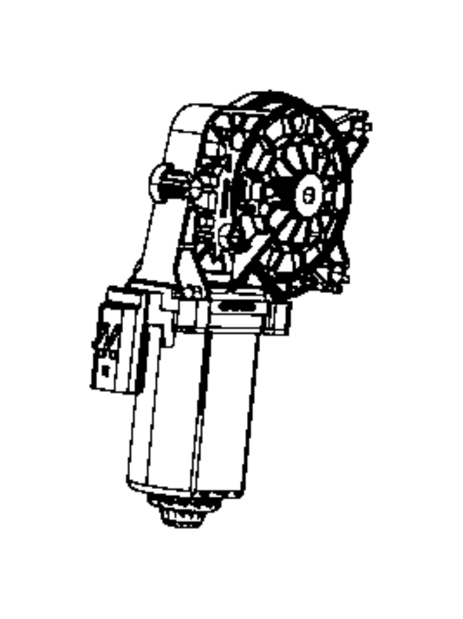 Jeep Liberty Power Window Motor. Make, Left, GLASS