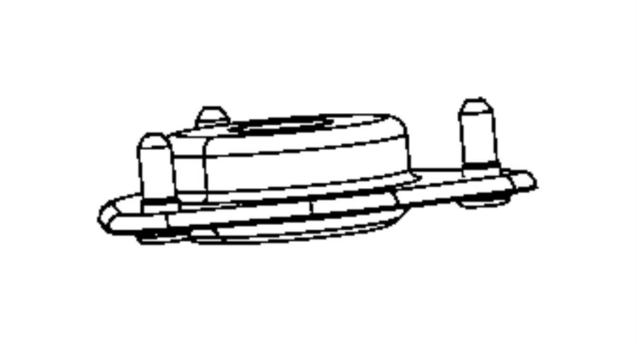 Dodge Caliber Suspension Strut Mount. AWD, Right