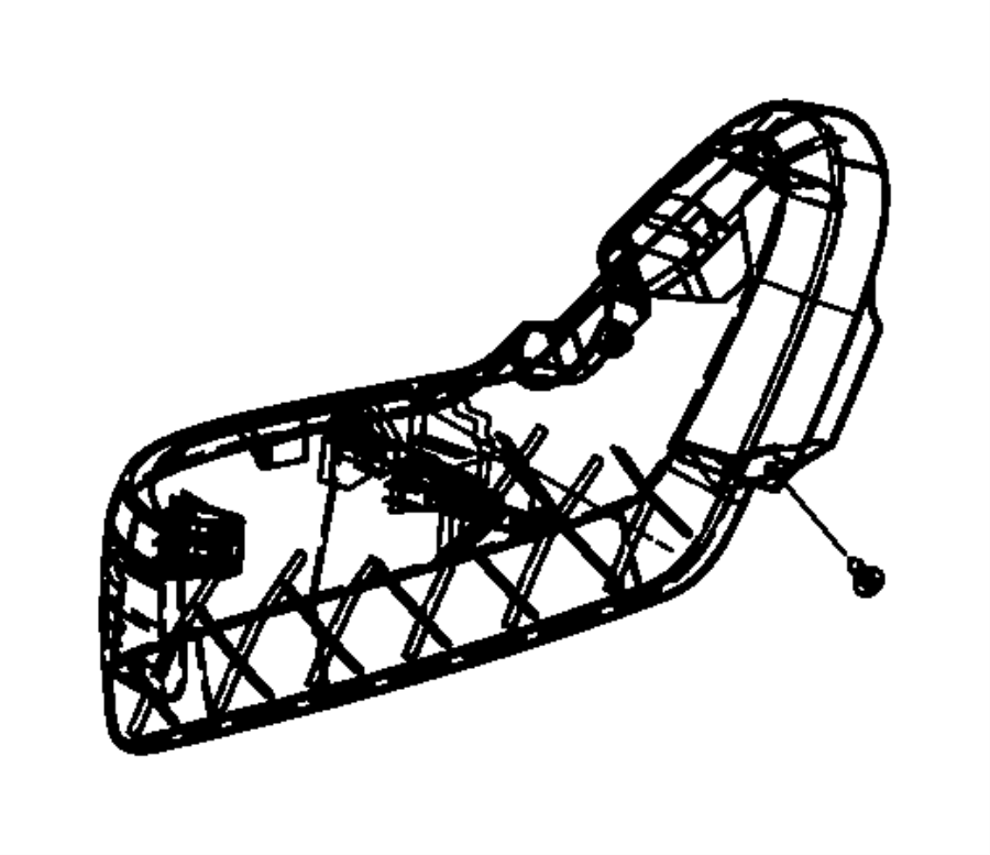 Chrysler Town & Country Seat Frame Trim Panel. MANUAL