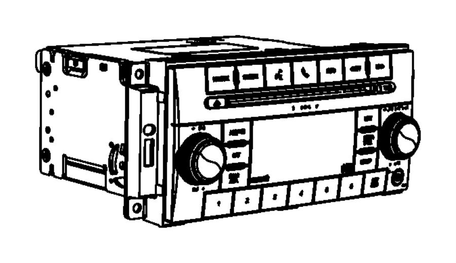 Dodge Charger Radio Control Unit. RSC, AMFM, RES