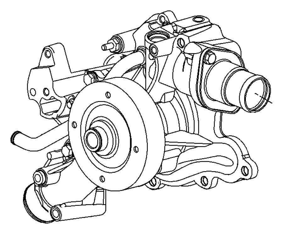 Dodge Ram 3500 Pump. Water. Engine. 5.7 LITER. Incl.Pulley