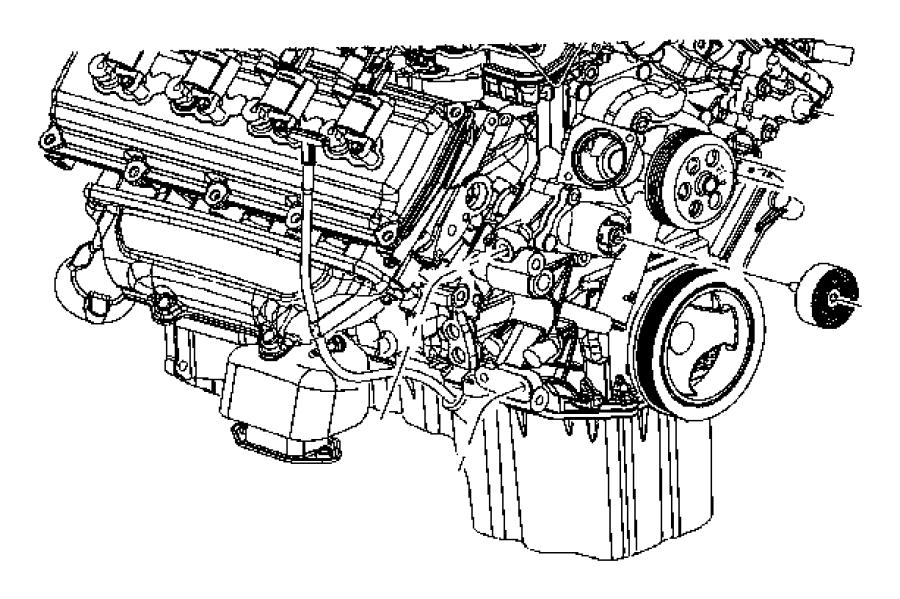 Dodge Challenger Damper. CRANKSHAFT. Pulley. Engine. 5.7