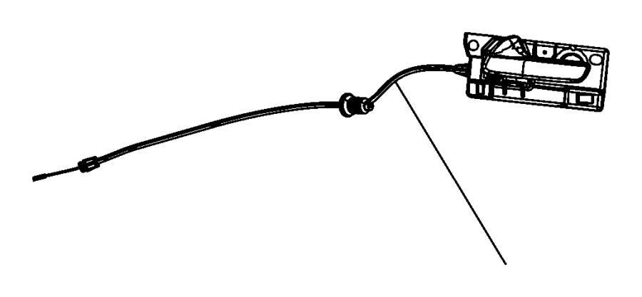 Dodge Durango Latch. Rods. Cable. Door lock operating rod