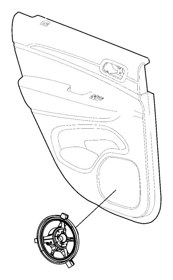 Dodge Durango Speaker. Rear, Lower, PartQualifier