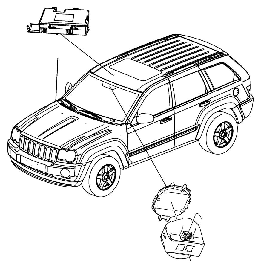 Jeep Grand Cherokee Rain Sensor. CONTROL MODULE. RAIN