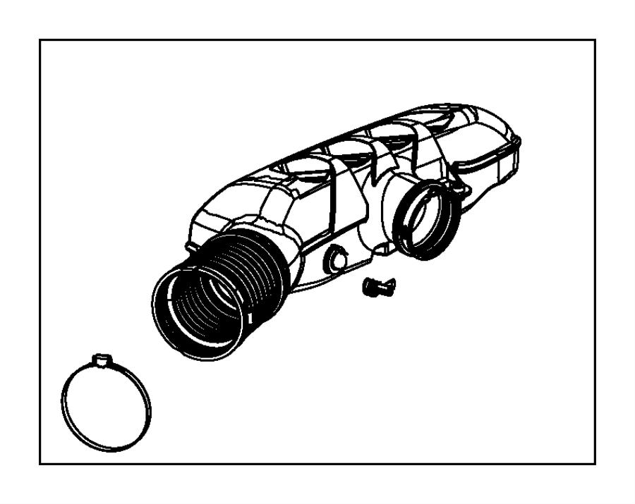 Dodge SPRINTER 3500 Engine Air Duct Clamp. Inner. Upper