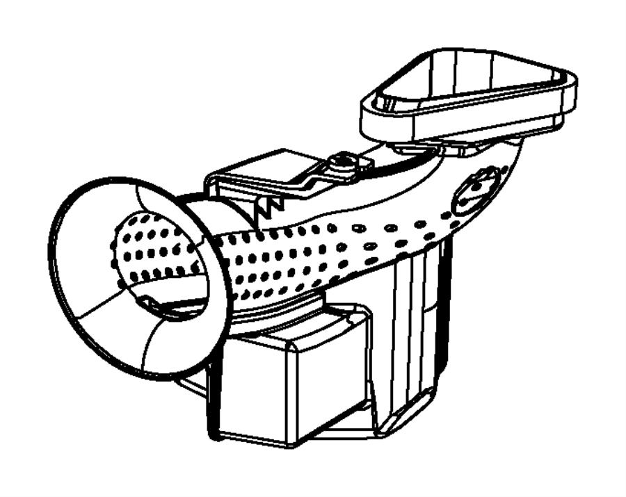 Dodge Charger Engine Air Intake Resonator. 3.6 LITER