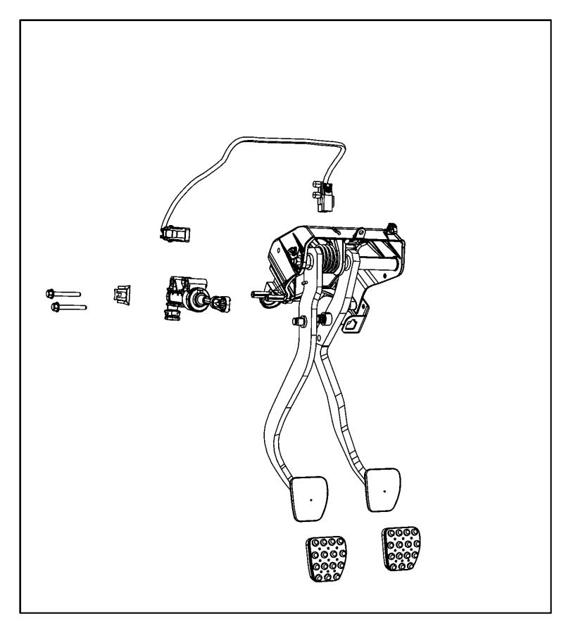 Dodge Challenger Clutch Master Cylinder. Pedal