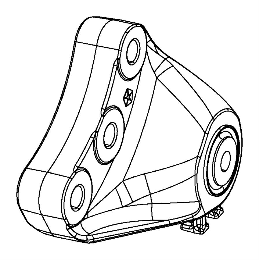 Dodge Dart Manual Transmission Mount Bracket. W/O TURBO