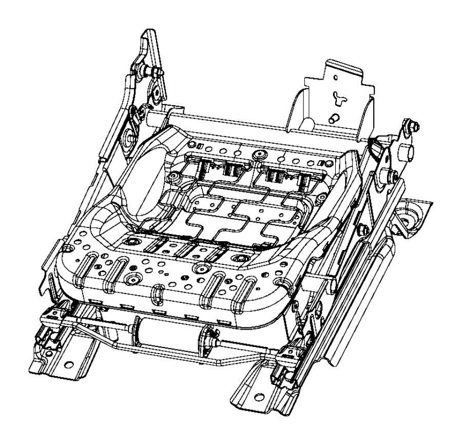Chrysler 200 Seat Motor. POWER, Horizontal, Front