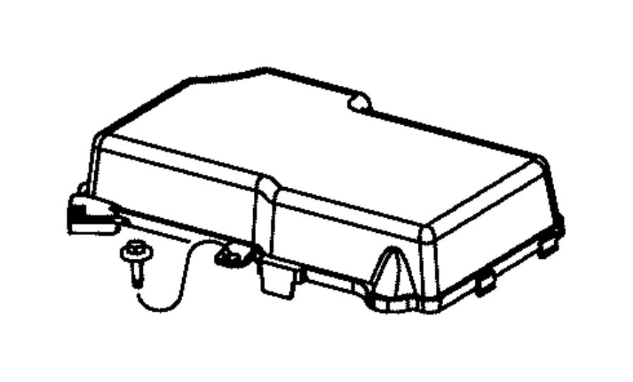Dodge Dart Fuse Box Cover. Upper, Telematics, Lighting