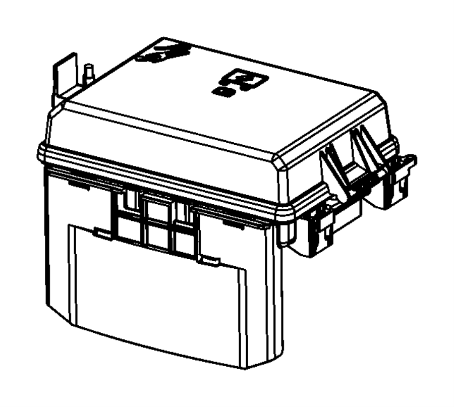 Dodge Challenger Fuse Box. FRONT. Telematics, Lighting