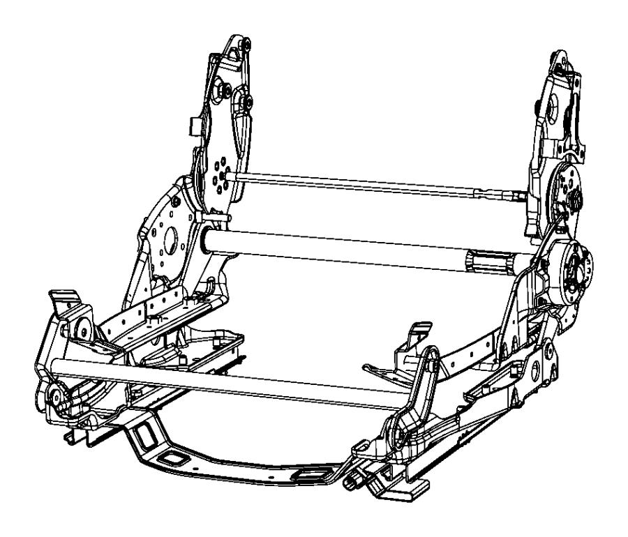 Dodge Viper Seat Adjuster. MANUAL SEAT. TRACKS