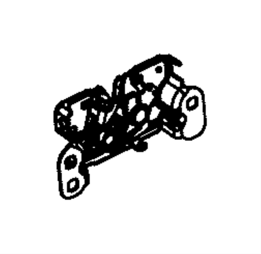 Jeep Grand Cherokee Hood Latch. DESIGN, Components, Front