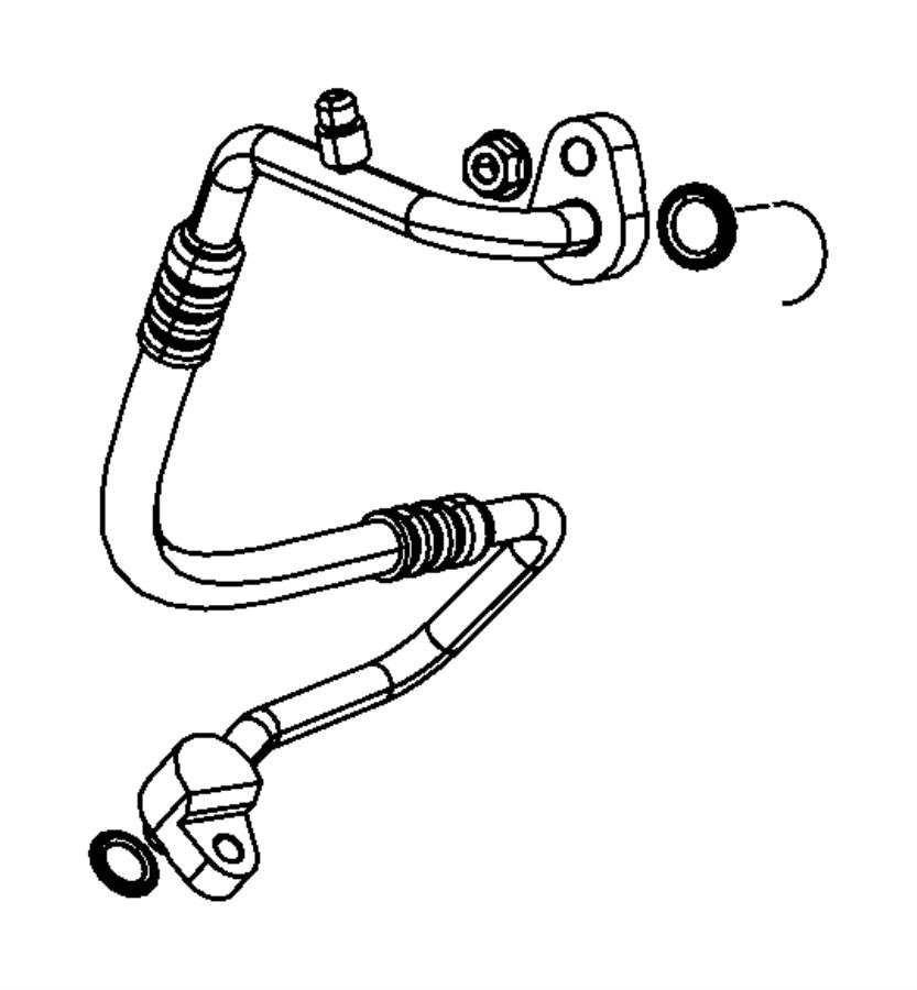 Jeep Compass A/c refrigerant discharge hose. Air, auto