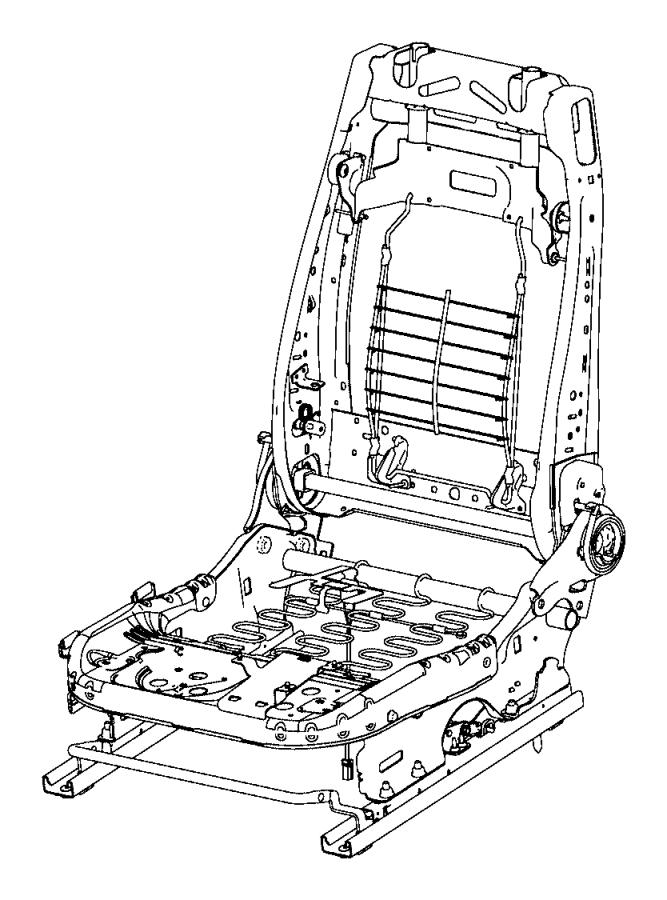 Dodge Challenger Adjuster. Manual seat. Passenger side