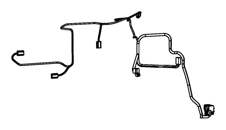 Ram 1500 Hvac system wiring harness. W/o auto temp cntrl
