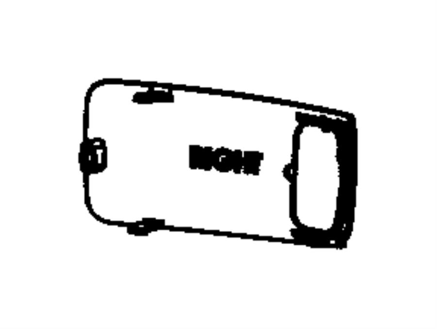 Dodge Challenger Steering Wheel Trim. 2012-15. W/O SRT