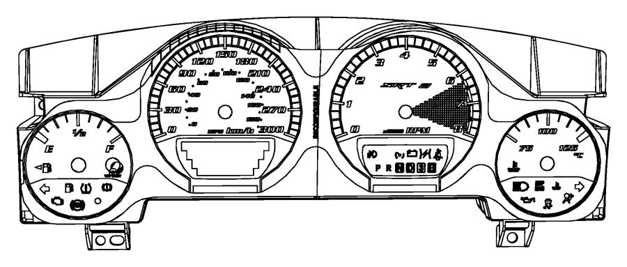 Dodge Challenger Instant cluster. Instrument cluster