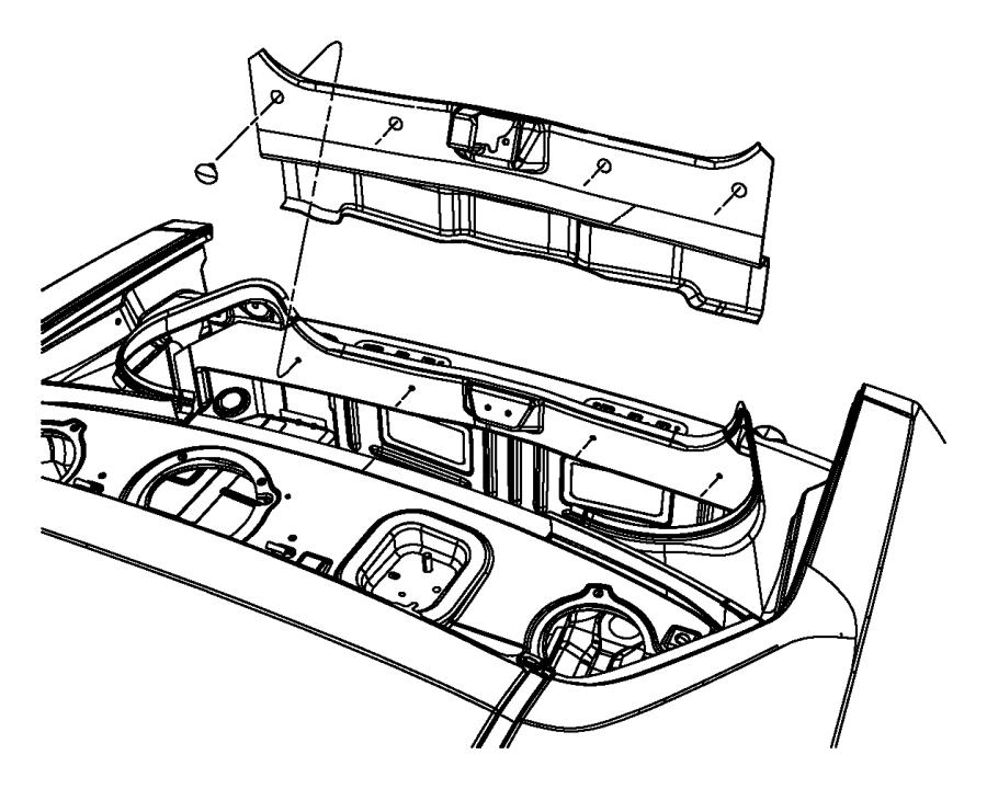Dodge Challenger Rear Body Panel Trim Panel. INTERIOR