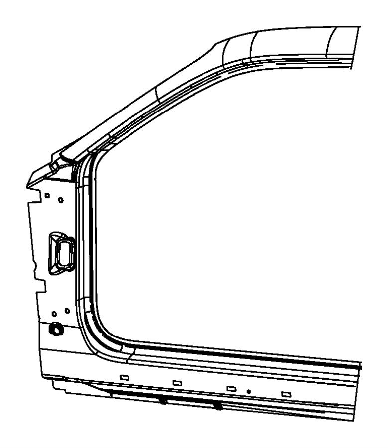 Dodge Challenger Body side aperture front. Panel. Fca