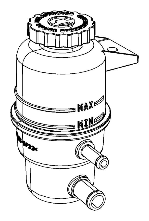 Chrysler Sebring Power Steering Reservoir. LITER, PUMP