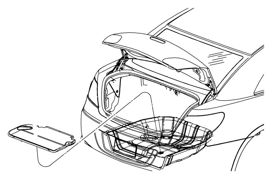 Dodge Avenger Shield. Heat. Exhaust. Floor Pan. Spare Tire