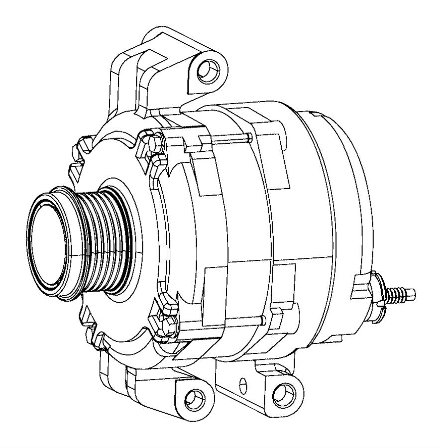 Chrysler 200 Engine. Generator. Battery, replaced