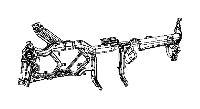 Dodge Challenger Instrument Panel Reinforcement. FCA, Beam
