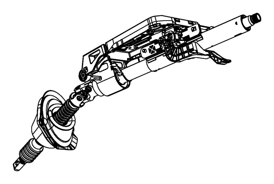 Dodge Challenger Steering Column. Tilt, AWD, WPower
