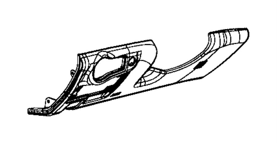 Chrysler 200 Instrument Panel Knee Bolster. White