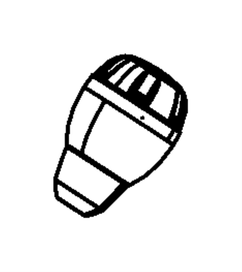 Jeep Wrangler Manual Transmission Shift Knob. FULL SIZE