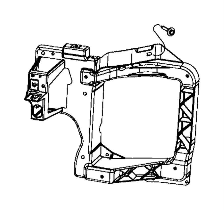 Jeep Cherokee Headlight Mounting Panel Screw. 2014-18
