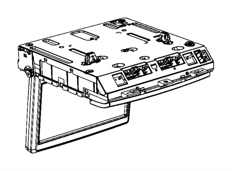 Dodge Grand Caravan Video Monitor. Front, w/o silver trim