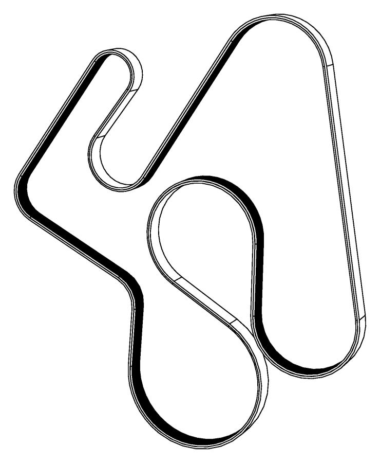 Ram 3500 Serpentine Belt. Dual, Drive, Alternator