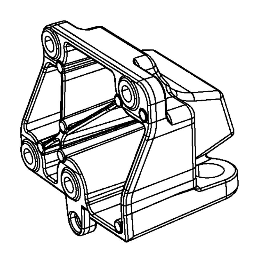 Dodge Charger Engine Mount Bracket (Front, Rear). 5.7