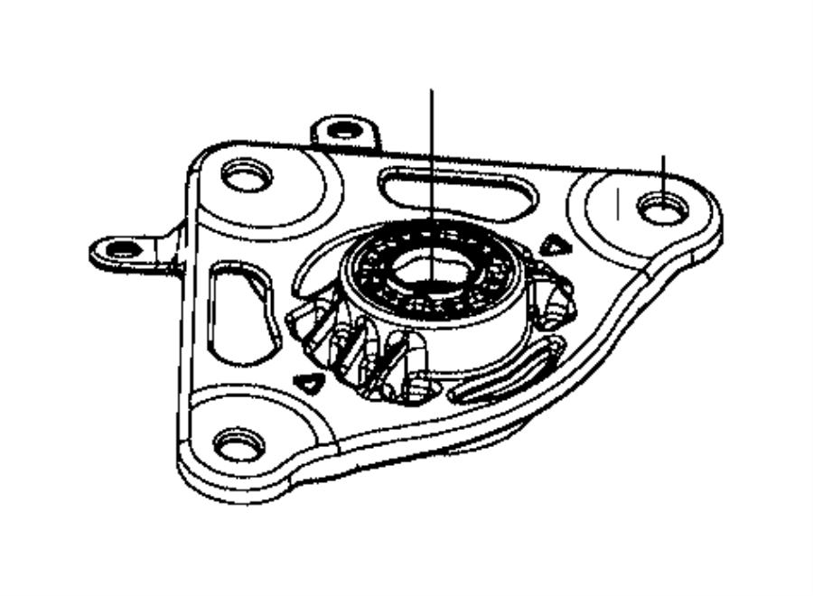 Jeep Renegade Suspension Strut Mount. COMPONENTS, FRONT