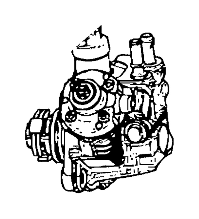 Ram ProMaster 2500 Diesel Fuel Injector Pump. PUMP