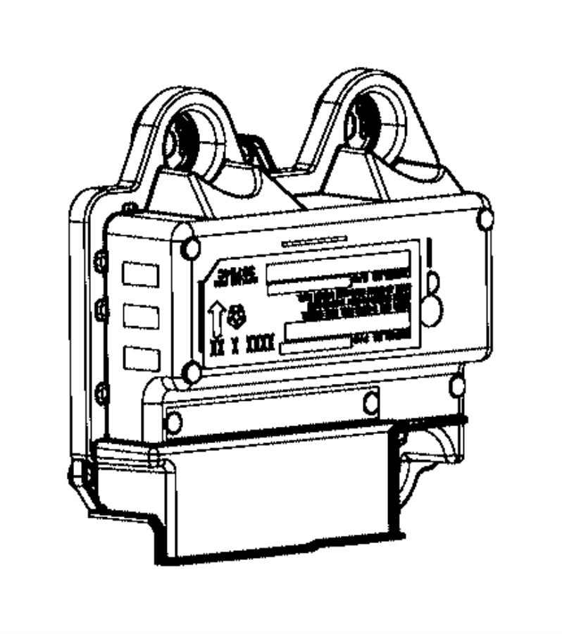 Chrysler 200 Air Bag Control Module. Make, Airbag, Replace