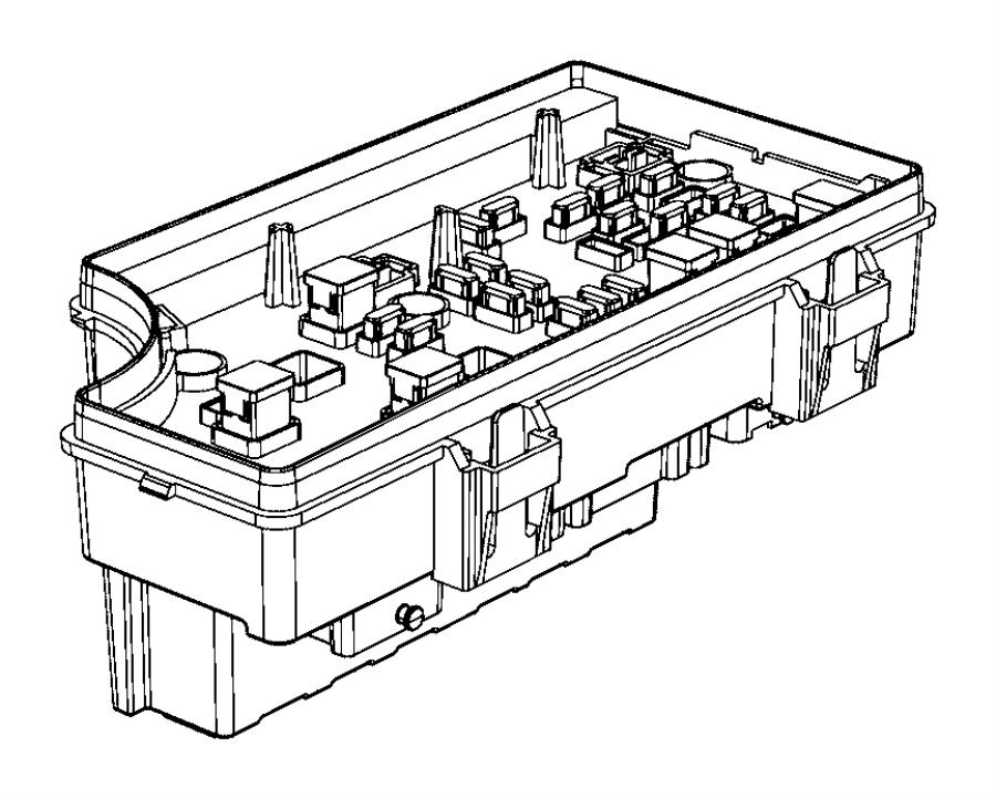 Jeep Patriot Fuse Box. UNDER HOOD, w/heated seats. W
