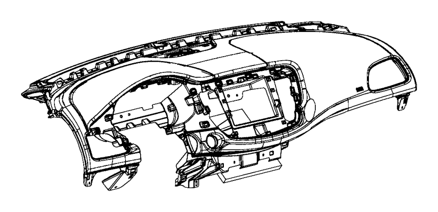Chrysler 200 Dashboard Panel. Instrument, Make